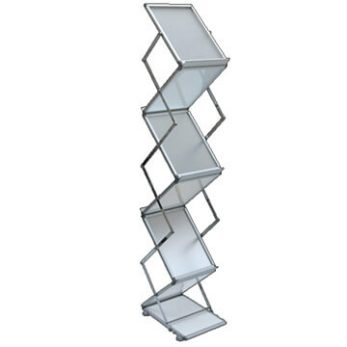 Brochure stand collapsible zig zag