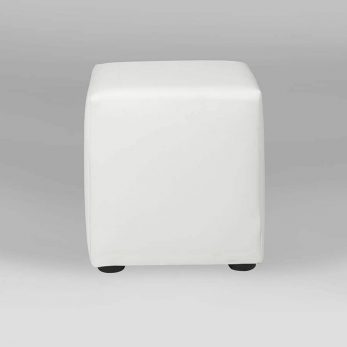Ottoman cubed white