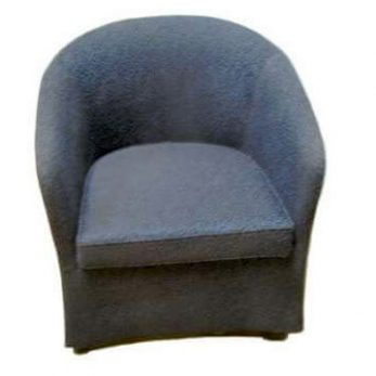 Tub chair regular dark blue with dark fleck on castors