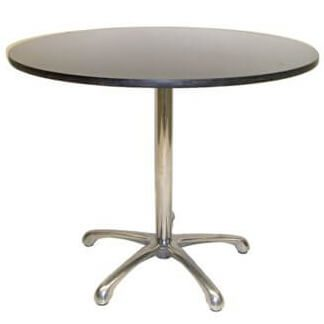 Round meeting table ironstone 900mmdia x 750mmh