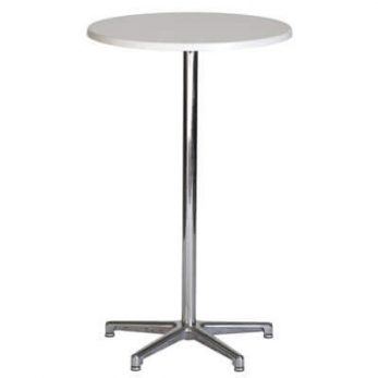 White dry bar table 700D x 1000H