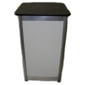 28. Octanorm display plinth ironstone top 500mml x 1000mmh x 500mmd
