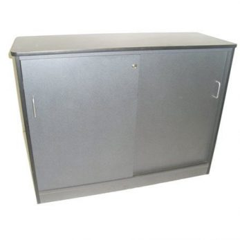 Credenza ironstone lockable with shelf centre divide 1200mml x 900mmh x 450mmd
