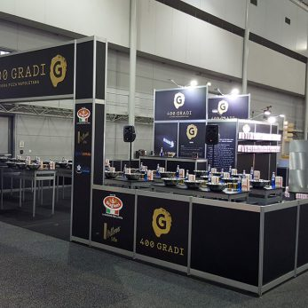 400 Gradi pop up display for Food and Wine Show 2017 Brisbane