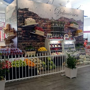 IGA fruit and vegetable display at the Royal Show 2015