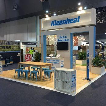 Kleenheat popup exhibit at Good Food and Wine Show 2017