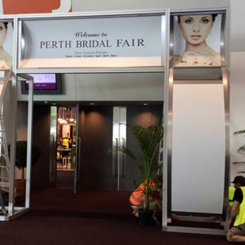 Main entrance display for the Perth Bridal Expo