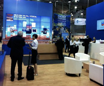 Chevron custom exhibition display