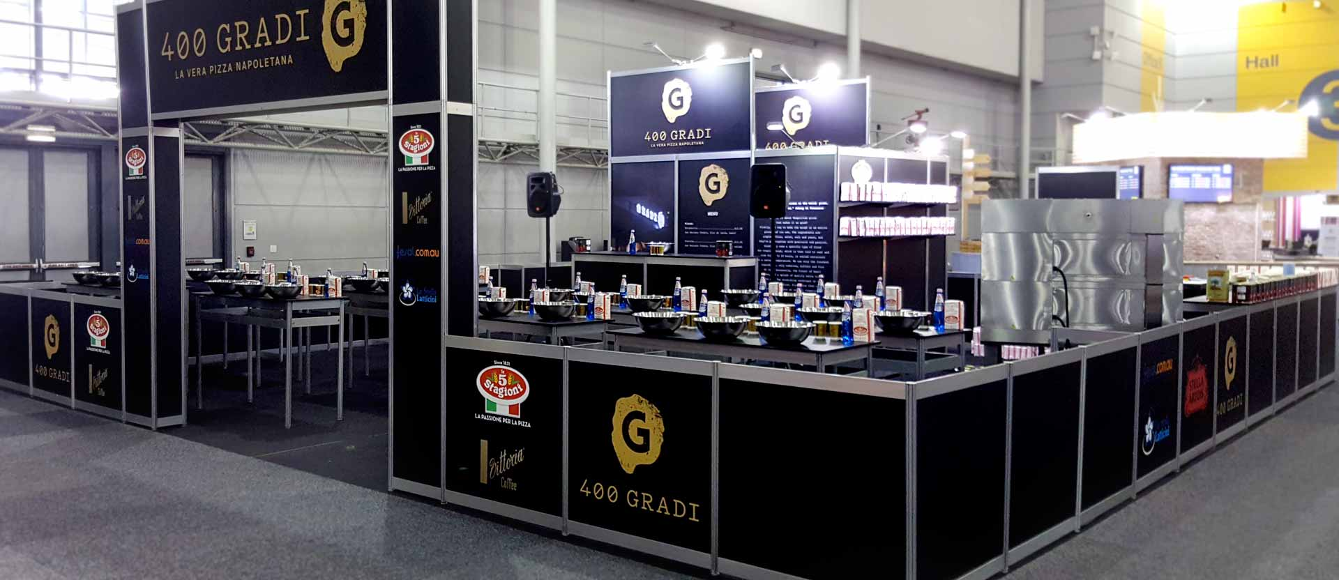 Custom fitout display for 400 Gradi at Food and Wine Expo in Brisbane 2017