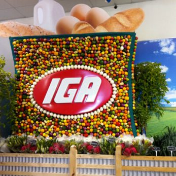IGA Foods Expo display