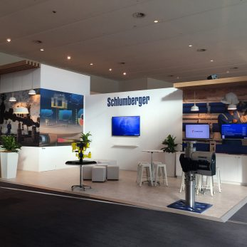 Schlumberger exhibit at LNG18 2016